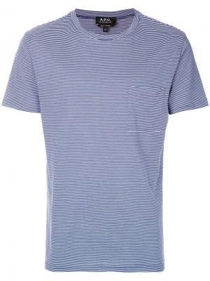 Striped T-shirt A.P.C.. Цвет: синий
