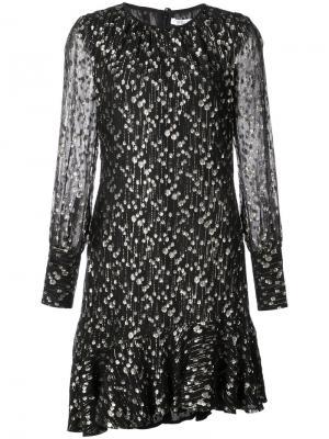 Асимметричное платье с оборками Derek Lam 10 Crosby. Цвет: черный