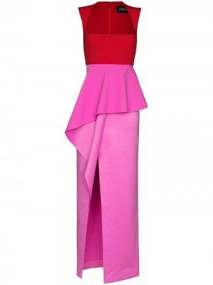 Платье Ally с баской Solace London. Цвет: красный