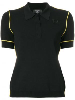 Рубашка-поло с контрастной окантовкой Rochas. Цвет: черный