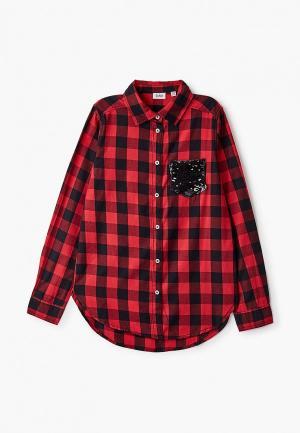 Рубашка Blukids. Цвет: красный