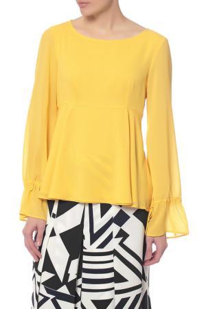 Блузка Pennyblack. Цвет: желтый