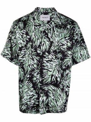 Рубашка Hinterland с короткими рукавами Carhartt WIP. Цвет: черный
