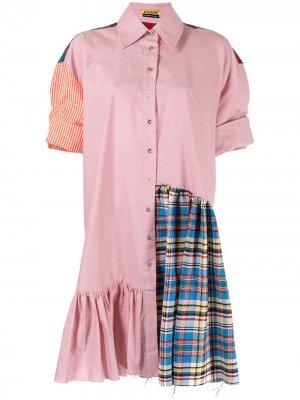MarquesAlmeida рубашка оверсайз в технике пэчворк Marques'Almeida. Цвет: красный