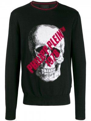 Пуловер с принтом Skull Philipp Plein. Цвет: черный