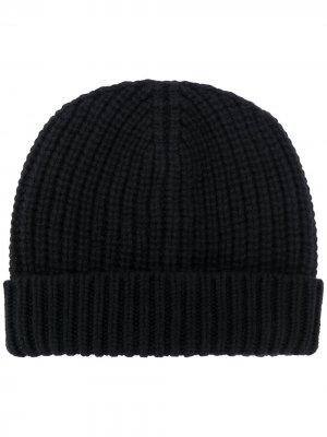 Maryya шапка бини в рубчик Ma'ry'ya. Цвет: черный