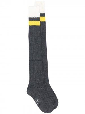 Носки в полоску Plan C. Цвет: серый