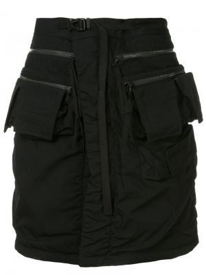 Повязка на талию с карманами карго Julius. Цвет: черный