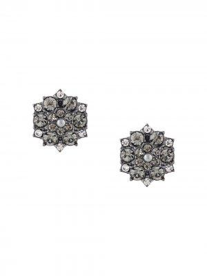 Серьги-гвоздики с кристаллами Marchesa Notte. Цвет: черный