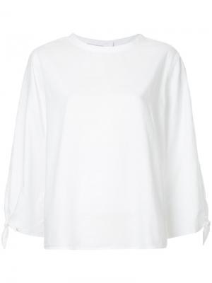 Оксфордская блузка Sprilla Mads Nørgaard. Цвет: белый