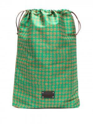 Дорожная сумка Eris с логотипом 10 CORSO COMO. Цвет: зеленый