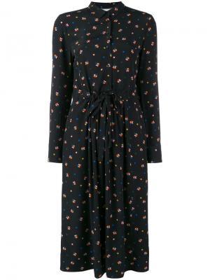 Расклешенное платье-рубашка с цветочным принтом Chinti & Parker. Цвет: черный
