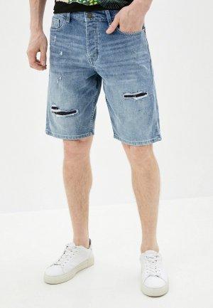 Шорты джинсовые Only & Sons. Цвет: голубой