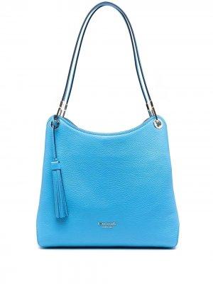 Большая сумка-тоут Loop Kate Spade. Цвет: синий