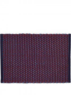 Плетеный придверный коврик Hay. Цвет: красный