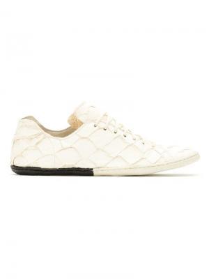 Panelled Pirarucu sneakers Osklen. Цвет: белый