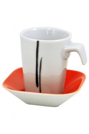 Чашка-мокко с блюдцем KAHLA. Цвет: белый