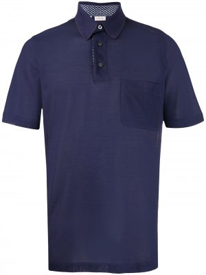 Рубашка поло с короткими рукавами Brioni. Цвет: синий