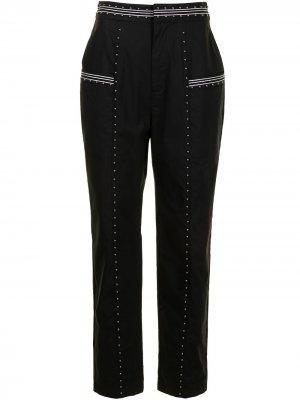 Зауженные брюки с заклепками TWINSET. Цвет: черный