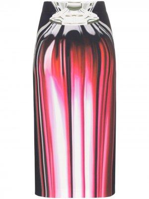 Юбка-карандаш с принтом Opium Perfume Mary Katrantzou. Цвет: розовый