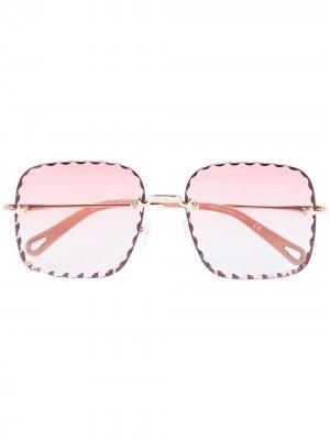 Солнцезащитные очки Rosie Chloé Eyewear. Цвет: розовый