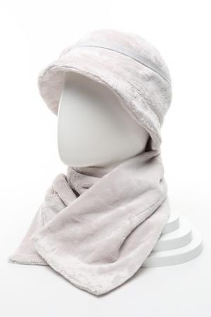 Комплект: шляпа с шарфом Loricci. Цвет: серый
