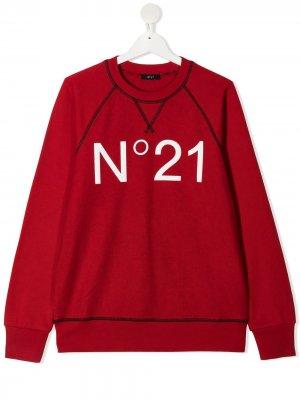 Толстовка с логотипом Nº21 Kids. Цвет: красный
