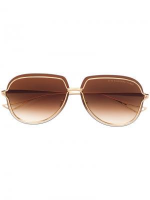 Солнцезащитные очки Nightbird-three Dita Eyewear. Цвет: золотистый