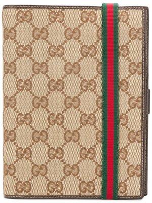 Записная книжка 2009-го года с монограммой Gucci Pre-Owned. Цвет: нейтральные цвета