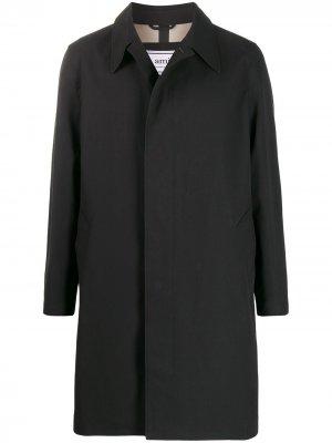Пальто на пуговицах AMI Paris. Цвет: черный