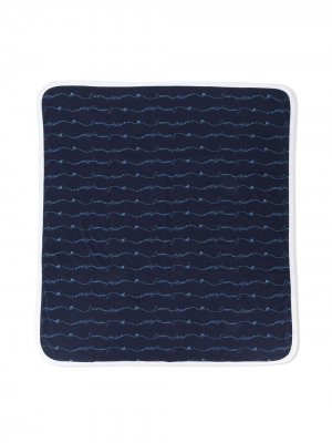 Одеяло с логотипом Emporio Armani Kids. Цвет: синий