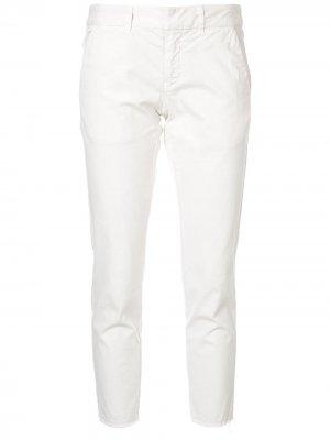 Укороченные брюки скинни Nili Lotan. Цвет: белый