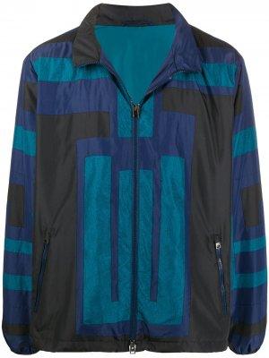 Легкая куртка со вставками Etro. Цвет: синий
