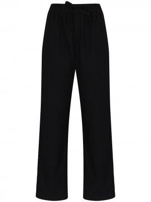 Фланелевые пижамные брюки TEKLA. Цвет: черный