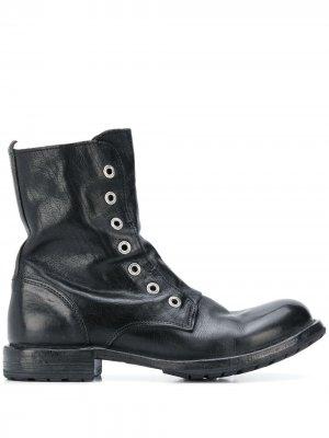 Ботинки в стиле милитари Moma. Цвет: черный