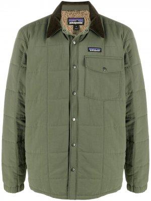 Стеганая куртка-рубашка Isthmus Patagonia. Цвет: зеленый