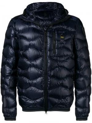 Short padded jacket Blauer. Цвет: синий