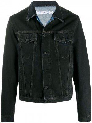 Джинсовая куртка с логотипом Off-White. Цвет: черный