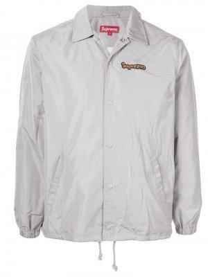 Куртка Gonz коллекции SS18 с логотипом Supreme. Цвет: серый