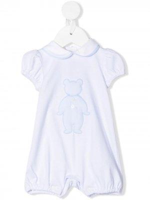 Ромпер с вышивкой Teddy Bear Little. Цвет: белый