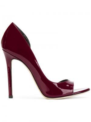 Туфли с открытым носком Marc Ellis. Цвет: розовый и фиолетовый