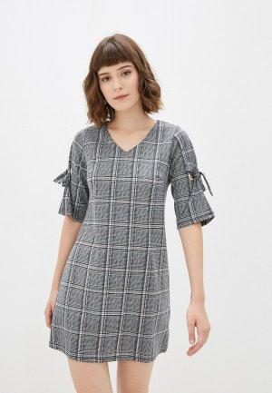 Платье Yumi. Цвет: серый