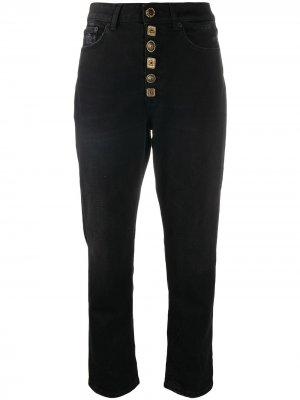Укороченные джинсы на пуговицах Dondup. Цвет: черный