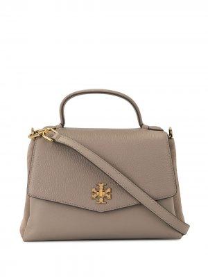 Маленькая сумка-сэтчел Kira с верхними ручками Tory Burch. Цвет: коричневый