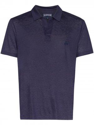 Рубашка-поло Pyramid с короткими рукавами Vilebrequin. Цвет: синий