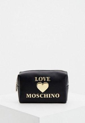 Косметичка Love Moschino. Цвет: черный