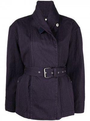 Куртка с поясом Isabel Marant Étoile. Цвет: фиолетовый