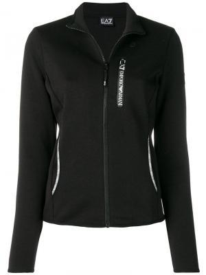 Спортивный костюм из куртки и брюк Ea7 Emporio Armani. Цвет: черный