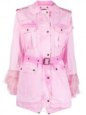 Куртка со съемным болеро Mr & Mrs Italy. Цвет: розовый
