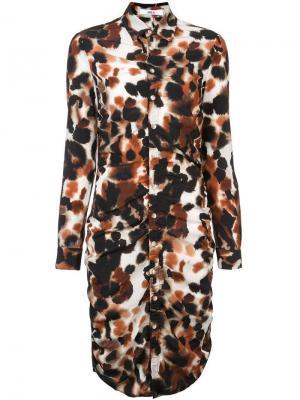 Платье-рубашка с принтом Area. Цвет: коричневый